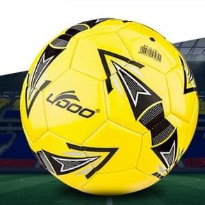 19cm PU leer naaien Wearable Match voetbal (geel)
