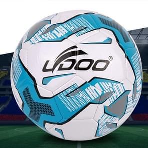19cm PU leer naaien Wearable Match voetbal (fluorescerende blauw)