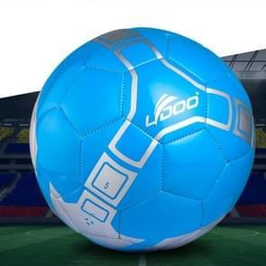 19cm PU leer naaien Wearable Match voetbal (blauw)