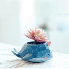 Heerlijk huis tuin Office hars Cartoon dierlijke walvis vormige Plant bloem Pot decoratie dieren Flower Pot Planter