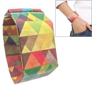 Veelkleurige driehoek patroon creatieve Fashion waterdichte papier Watch intelligente papier elektronische polshorloge