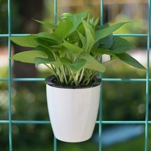 Lui bloempotten automatische water-absorberende groene radijs vlees pillen Hydroponics muur-Hung circulaire hars kunststof bloempotten  grootte: 11 * 6.9 * 10.5 cm