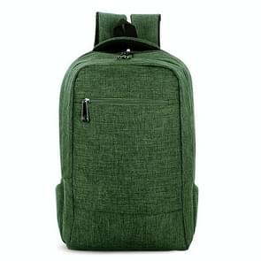 Universele multifunctionele 15.6 inch Laptop Schouderstas studenten Backpack voor MacBook  Samsung  Lenovo  Sony  Dell  Chuwi  Asus  HP  Afmetingen: 43 x 28 x 12 cm (groen)