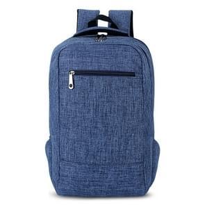 Universele multifunctionele 15.6 inch Laptop Schouderstas studenten Backpack voor MacBook  Samsung  Lenovo  Sony  Dell  Chuwi  Asus  HP  Afmetingen: 43 x 28 x 12 cm (blauw)