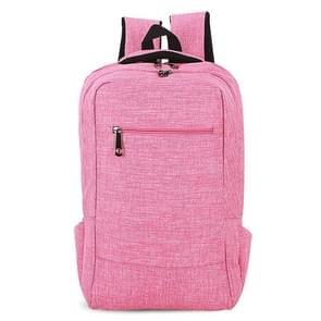 Universele multifunctionele 15.6 inch Laptop Schouderstas studenten Backpack voor MacBook  Samsung  Lenovo  Sony  Dell  Chuwi  Asus  HP  Afmetingen: 43 x 28 x 12 cm (hard roze)