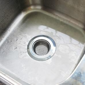 Wide Edge gootsteen filter afvoer afvoer douche riool roestvrijstalen zeven  maat: M (9 x 9cm)