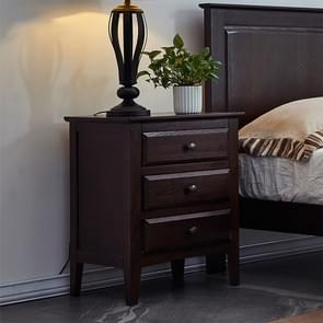 Moderne minimalistische massief hout opbergkast Locker slaapkamer Full bed tabel