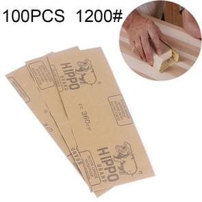 100 stuks Grit 1200 NAT en droog polijsten slijpen schuurpapier  formaat: 23 x 9cm(Yellow)