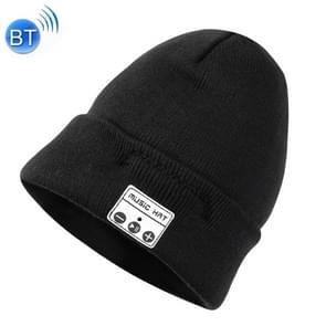 Bluetooth warme gebreide muts  ondersteunt het beantwoorden van de telefoon & Bluetooth portret Taking & muziek (zwart)