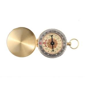 Draagbare Brass Pocket Camping wandelen gouden lichtgevende scherm Kompas navigatie Outdoor activiteiten wijzen gids