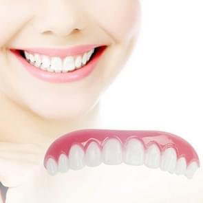 Siliconen whitening simulatie accolades comfort fit Flex gebogen tanden kunstgebitten Beauty tools  lengte: 7cm