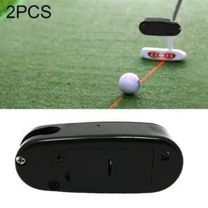 2 PCS Golf Putter Laser Sight Corrector Golf Training Accessories(Black)