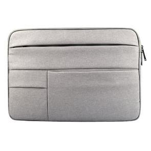 Universele 15.6 inch Laptoptas Sleeve met Oxford stof en zijvakjes voor MacBook  Samsung  Lenovo  Sony  Dell  Chuwi  Asus  HP (grijs)