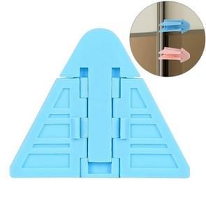 Raam veiligheidsvergrendeling schuifdeur raam slot deur en raam stopper voor kinderen (blauw)