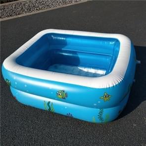 Huishoudelijke kinderen 1.1m twee lagen rechthoekige afdrukken opblaasbare zwembad  grootte: 110 * 90 * 40 cm