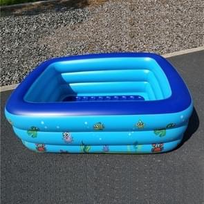 Huishoudelijke kinderen 1 8 m drie lagen rechthoekige afdrukken opblaasbare zwembad  grootte: 180 * 140 * 60 cm