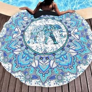 Gedrukte olifant patroon ronde zomer Bad handdoek zand strand handdoek omslagdoek sjaal  maat: 150 x 150cm