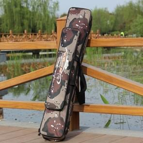 Desert Camouflage Double Layer Fishing Rod Package Waterproof Moisture - Proof Fishing Bag Length:80 cm