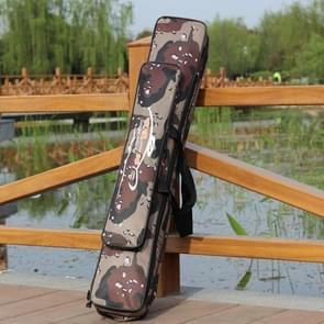 Woestijn Camouflage dubbellaagse hengel pakket waterdichte vocht - bewijs visserij tas  lengte: 80 cm