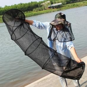 1.5m Fish Net Cage 5 Layers Collapsible Fish Care Net Fish Cage Wire Fish Care Anti-scraper Care Random Color Delivery