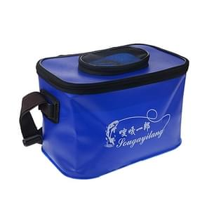 Live Fish Bucket Folding Water Bucket  Fish Bucket Bait Box Fishing Water Tank Size:33*23*22cm  Random Color Delivery