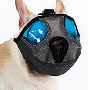 Verstelbare korte mond platte neus huisdier hond mond Cover muilkorf anti-bijtende blaffende comfortabele Camouflage  L  nek grootte: 36-64cm(Grey)