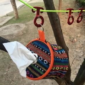 5 PCS Aluminum Alloy Climbing Outdoor Hiking Camping Rope Hanger Hook Tent Light Hanging Buckle