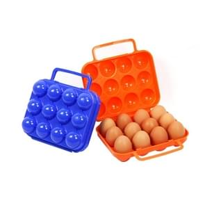 Outdoor Portable 12 Grid Egg Storage Case Holder Tray Carrier Crush-proof Break-proof Protection for Picnic Outdoor Hiking  Random Color Delivery