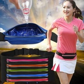 Multifunctionele buiten waterdichte hoge Stretch Faux leder stof één taille Sporttas met nacht reflecterende Strip  willekeurige kleur levering