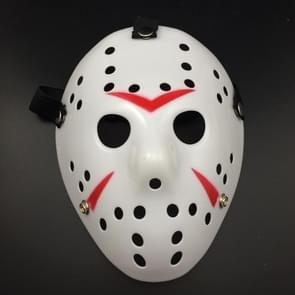 Halloween Party Cool dikker Jason masker (rood + wit)