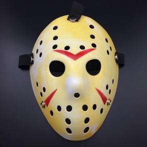 Halloween Party Cool dikker Jason masker (rood + geel)