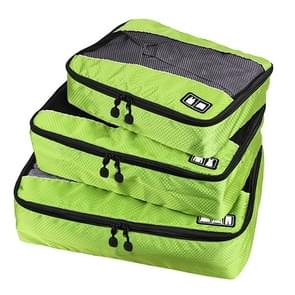 3 PCS / Sets Multi-function Football Texture 210D Polyester Waterproof Travel Clothes Underwear Storage Bag (Green)