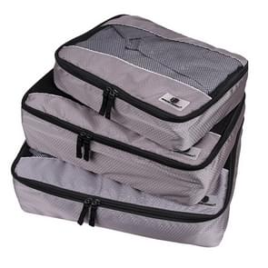 3 PCS / Sets Multi-function Football Texture 210D Polyester Waterproof Travel Clothes Underwear Storage Bag (Grey)