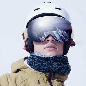 Originele Xiaomi TS volwassene anti-mist UV bescherming Dual lagen sferische Skibrillen met antislip verstelbare Strap(Grey)