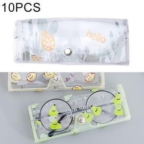 10 PCS Cartoon Cactus Pattern PVC Transparent Protective Case for Sunglasses / Glasses