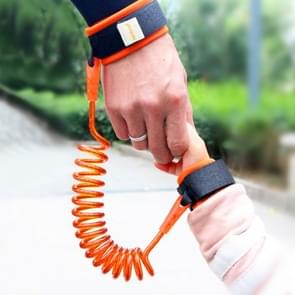 Kids Safety Harness Child Leash Anti Lost Wrist Link Traction Rope Anti Lost Bracelet  Length: 2.5m(Orange)