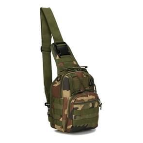 Outlife buiten multifunctionele Unisex 600D militaire tactische rugzak Camping wandelen Jacht Camouflage rugzak tas  grootte: 30 * 22 * 5.0 cm (Jungle Camouflage kleur)