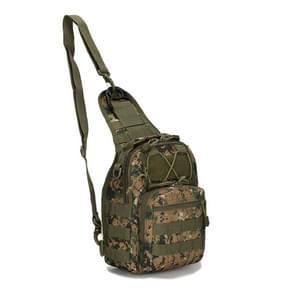 Outlife buiten multifunctionele Unisex 600D militaire tactische rugzak Camping wandelen Jacht Camouflage rugzak tas  grootte: 30 * 22 * 5.0 cm (Jungle digitale kleur)
