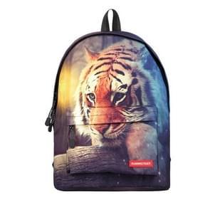 Dier Tiger patroon Print reizen rugzak School schouders tas  formaat: 40 x 30 cm x 17 cm