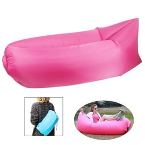 Inflatable Lounger Polyester Fabric Compression Air Bag Sofa for Beach / Travelling / Hospitality / Fishing  Size: 185cm x 75cm x 50cm  Normal Quality(Magenta)