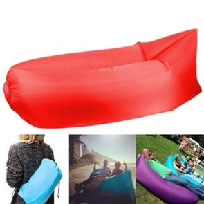 Inflatable Lounger Polyester Fabric Compression Air Bag Sofa for Beach / Travelling / Hospitality / Fishing  Size: 185cm x 75cm x 50cm  Normal Quality(Red)