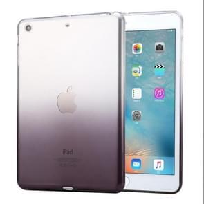 HAWEEL voor iPad mini 1 / 2 / 3 Slim verloop kleur Clear zachte TPU Case(Black)