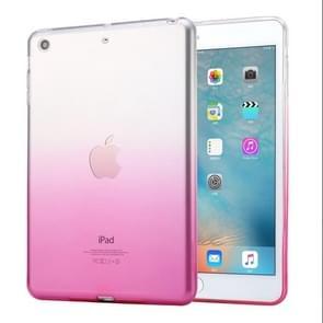 HAWEEL voor iPad mini 1 / 2 / 3 Slim verloop kleur Clear zachte TPU Case(Pink)