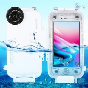 [Magazijn vae] HAWEEL 40m/130ft waterdichte duikhuis foto video het nemen van onderwater cover case voor iPhone 7 & 8 (wit)