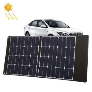 HAWEEL 100W draagbare opvouwbare ZonneLader buiten oplaadbare opvouwbare reistas met 2 zonnepanelen & USB-poort & handvat  maat: L