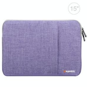 HAWEEL 15 inch Laptoptas Sleeve voor MacBook  Samsung  Lenovo  Sony  Dell  Chuwi  Asus  HP (paars)