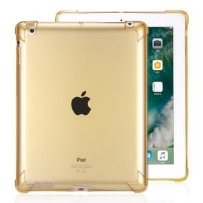 Zeer transparante TPU volledige Thicken hoeken schokbestendige beschermende case voor iPad 4/3/2 (goud)