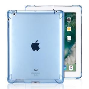 Zeer transparante TPU volledige Thicken hoeken schokbestendige beschermende case voor iPad 4/3/2 (blauw)