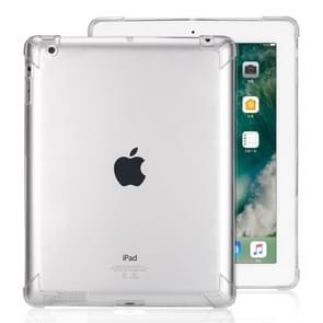 Zeer transparante TPU volledige Thicken hoeken schokbestendige beschermende case voor iPad 4/3/2 (transparant)