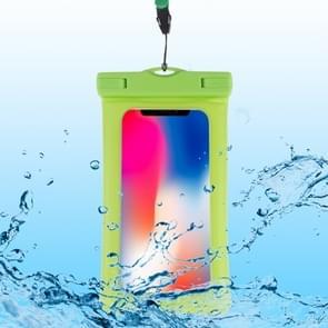 PVC transparante airbag universele waterdichte tas met Lanyard voor slimme telefoons onder 5 5 inch (groen)